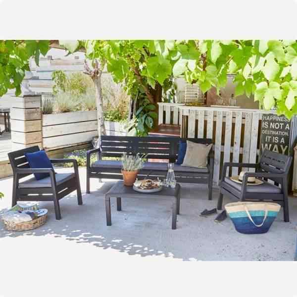 Holiday Hawaii Oturma Grubu Bahçe Ve Balkon Koltuk Takımı Antrasit