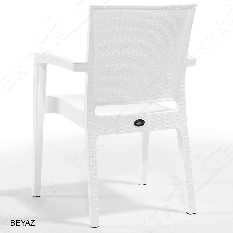 Novussi Paris Rattan Koltuk Bahçe Sandalyesi Beyaz