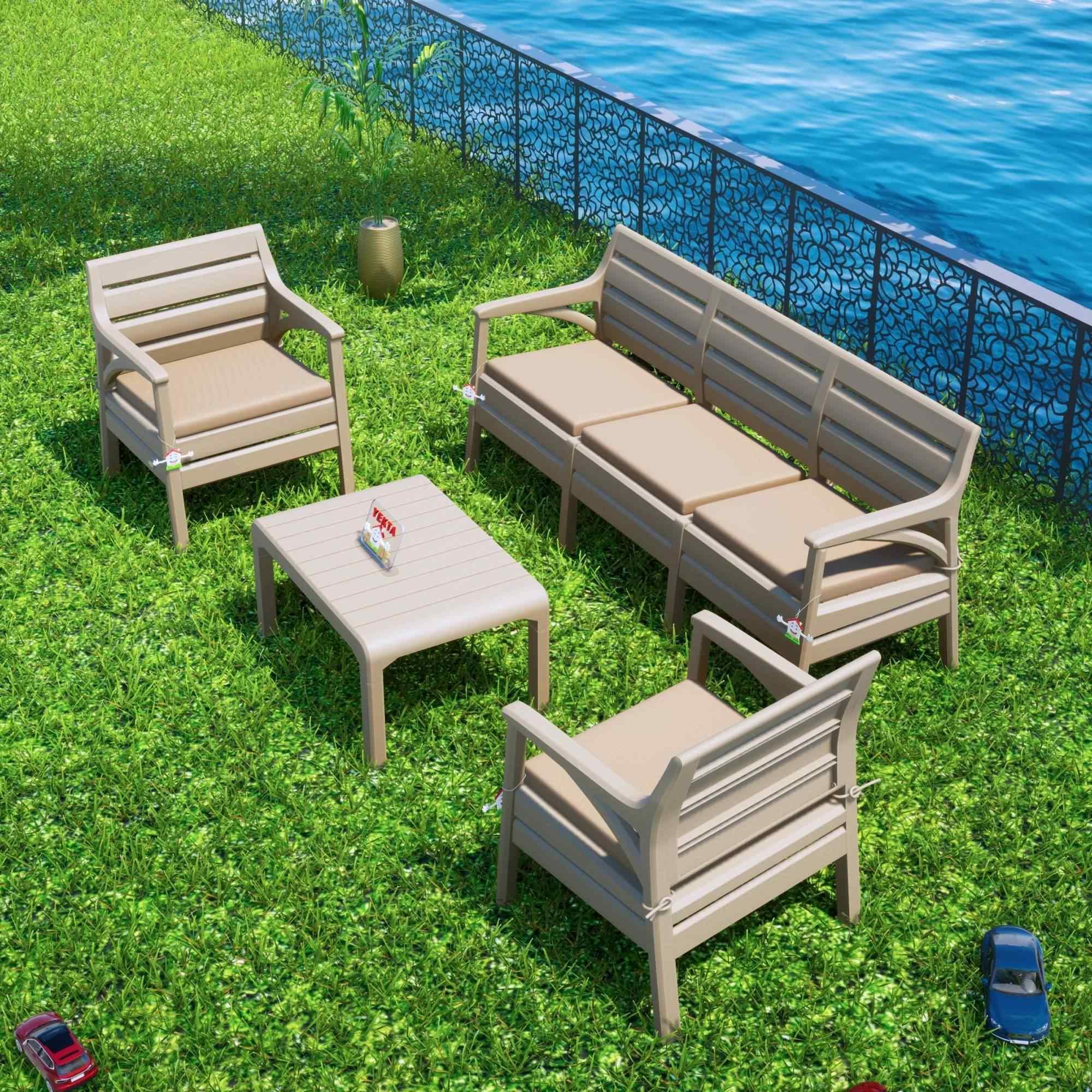 Holiday Hawaii Oturma Grubu Bahçe Ve Balkon Koltuk Takımı Cappucino
