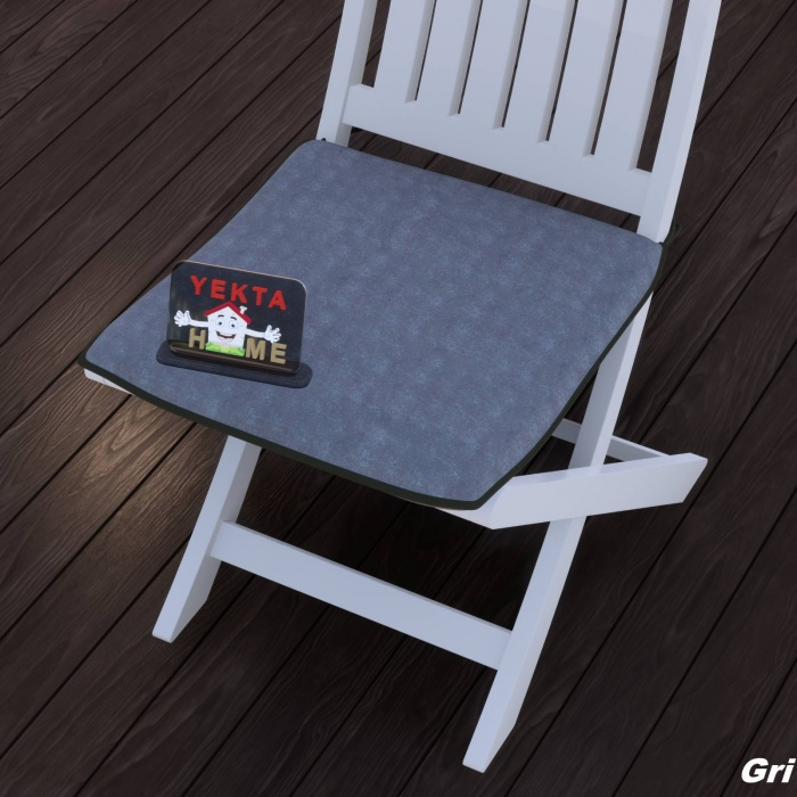 Sandalye Minderi - Rattan Koltuk Minderi 6 Adet Gri