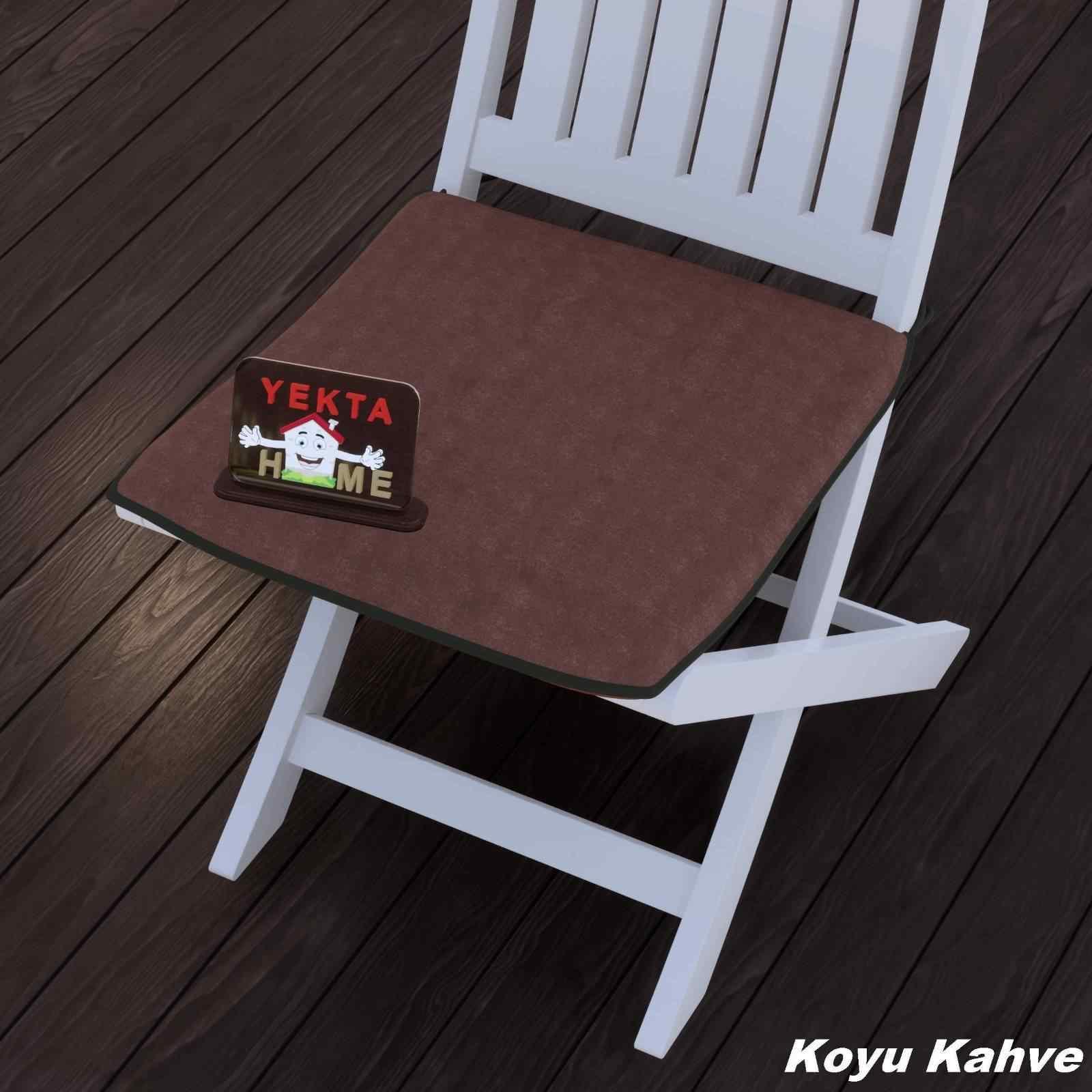 Sandalye Minderi - Rattan Koltuk Minderi 6 Adet Koyu Kahve