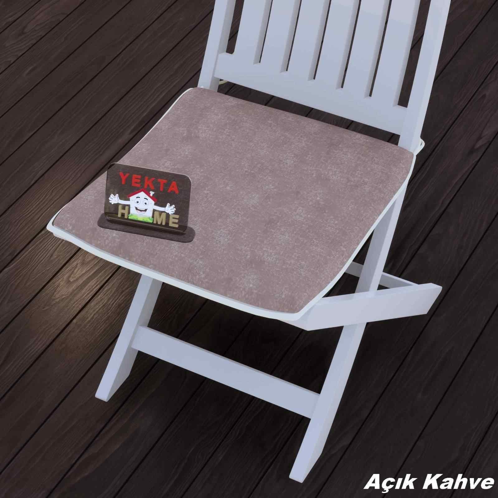 Sandalye Minderi - Rattan Koltuk Minderi 6 Adet Açık Kahve